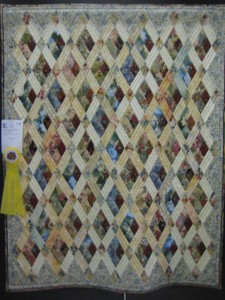 219B-Sharon Cummings-Diamonds and Rubies-1-3rd Place Pieced, Single Quilt Maker